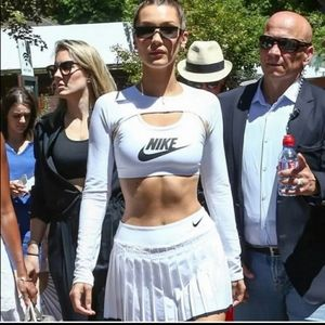 NIKE COURT VICTORY PLEATED TENNIS SKIRT WHITE